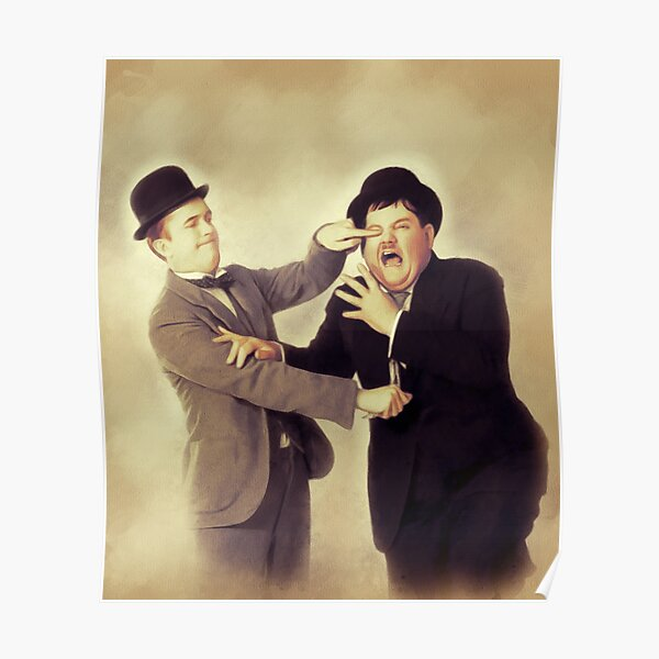 Laurel and Hardy, Hollywood Legends Poster
