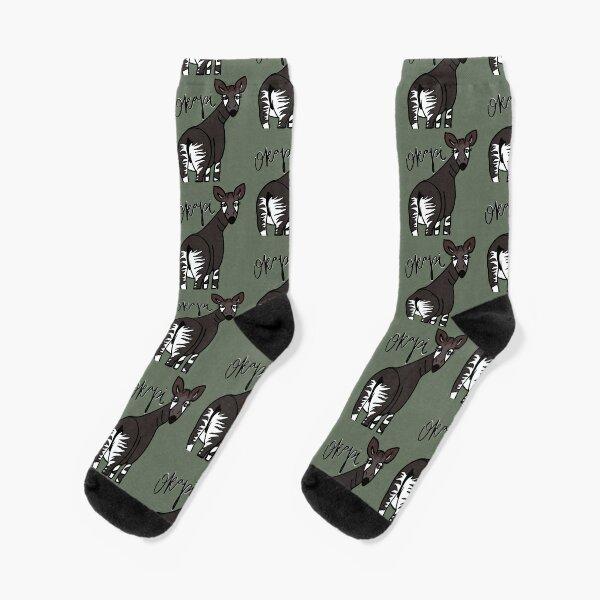 Okapi with name Socks
