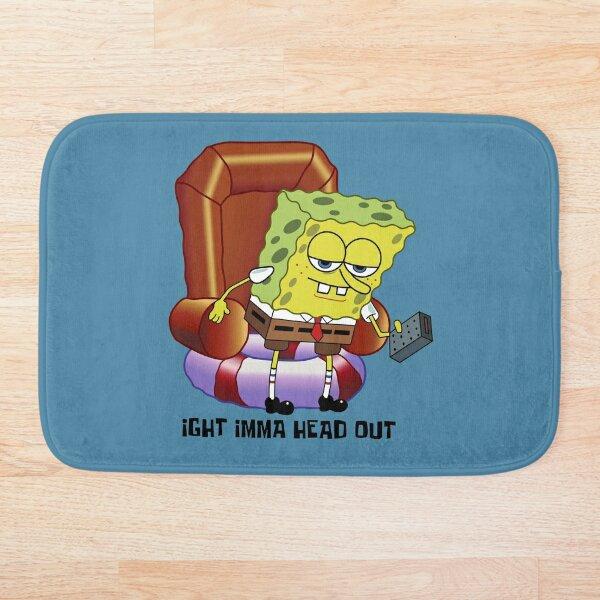 REMASTERED! Spongebob Squarepants ight imma head out HIGH RES Bath Mat
