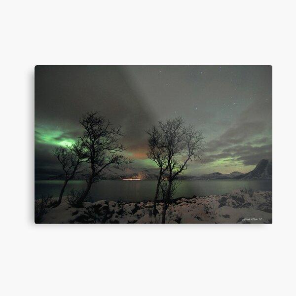 Aurora Borealis and clouds Metal Print