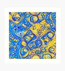Yellow and Blue abstraction Art Print