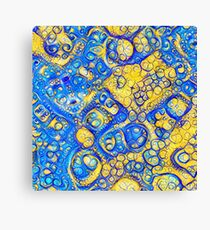 Yellow and Blue abstraction Canvas Print