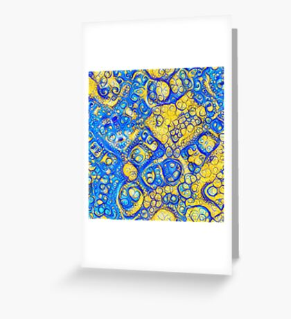 Yellow and Blue abstraction Greeting Card