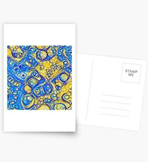 Yellow and Blue abstraction Postcards