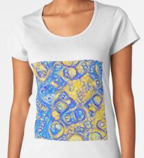 Yellow and Blue abstraction Premium Scoop T-Shirt