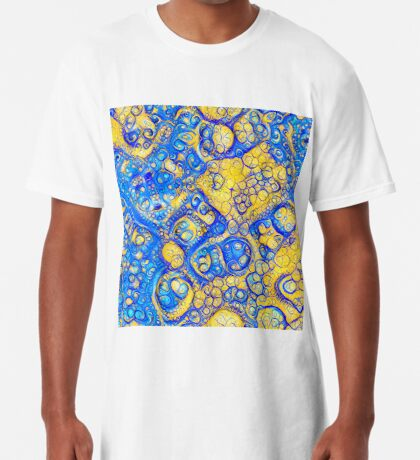Yellow and Blue abstraction Long T-Shirt