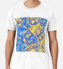 Yellow and Blue abstraction Premium T-Shirt