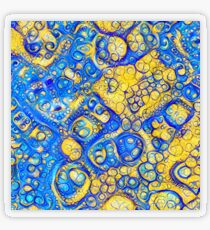Yellow and Blue abstraction Transparent Sticker
