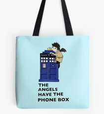 Castiel Has The Phone Box Tote Bag