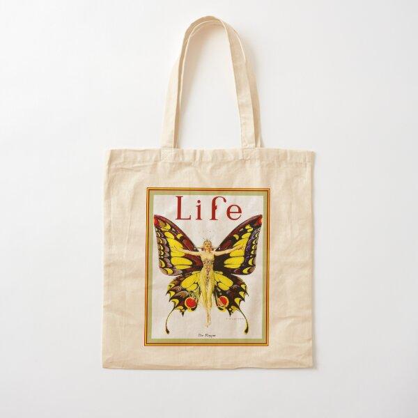 LIFE : Vintage 1922 Flapper Advertising Print Cotton Tote Bag
