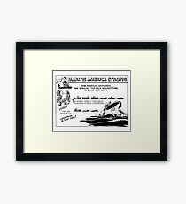 Making America Strong Cartoon -- WWII Framed Print