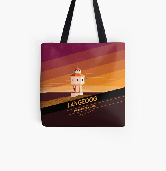 "Plattonian ""Langeoog Badge"" All Over Print Tote Bag"