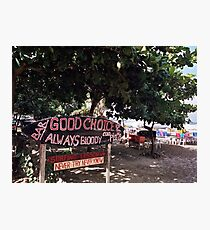 Good Choice Bar, Seminyak Beach Bali Photographic Print