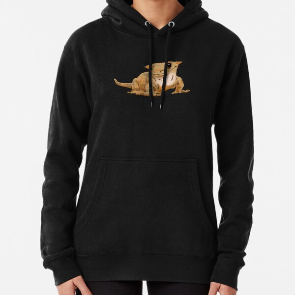 Smiling Crested Gecko, Cute Crested Gecko, Crestie Lover Pullover Hoodie