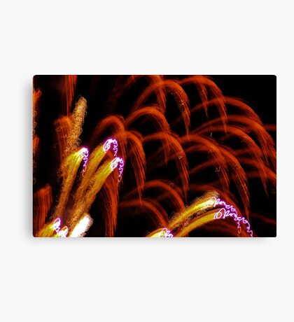 inside an 4th of july airburst Canvas Print