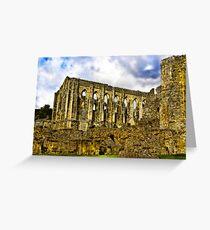 Rievaulx Abbey - North Yorkshire. Greeting Card