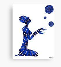 Femme planete Canvas Print