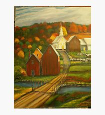 Small Town with Church Photographic Print