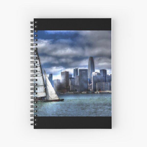 Bay City Sail Poster Spiral Notebook