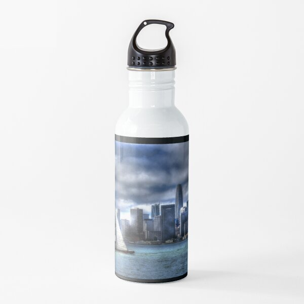 Bay City Sail Poster Water Bottle