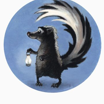 Cute Skunk Holding Lantern! by chadcameron