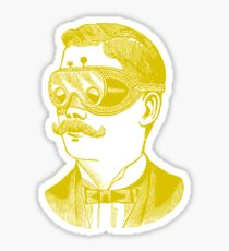 Vintage man in goggles Sticker
