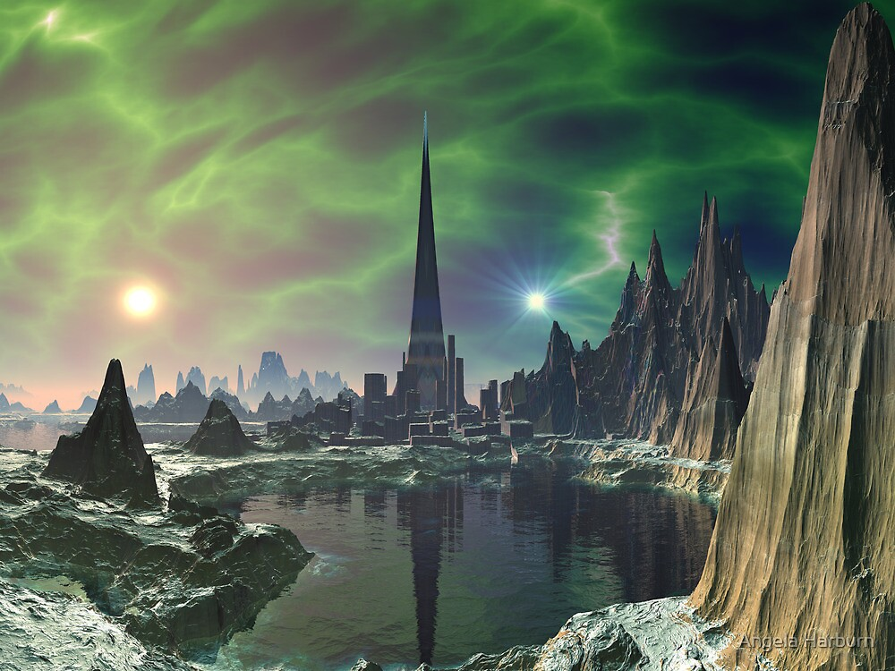 Euphoria Tower on Planet Electra by Angela Harburn