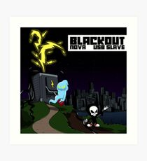 NOVA X USB sLAve - Blackout Art Print