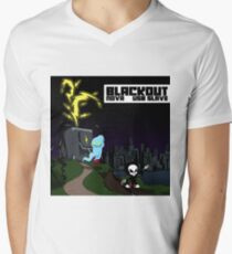 NOVA X USB sLAve - Blackout V-Neck T-Shirt