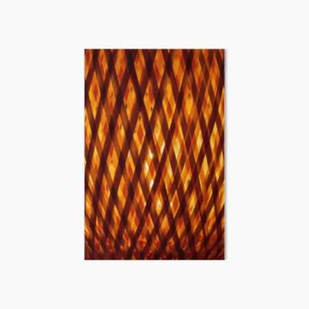 Bamboo Lattice  Art Board Print
