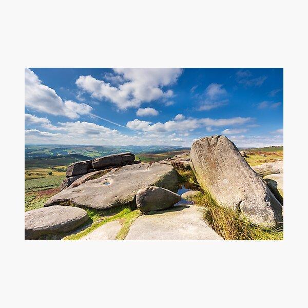 Peak District View - Higger Tor, Hathersage Photographic Print