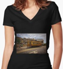 Saturday's Easiness Women's Fitted V-Neck T-Shirt