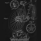 Vintage Bicycle Blueprint patent illustration 1899 by Glimmersmith