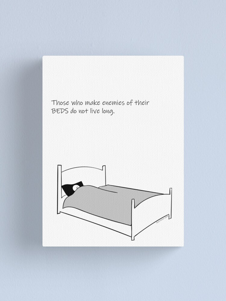 Alternate view of On The Importance Of Sleep Canvas Print
