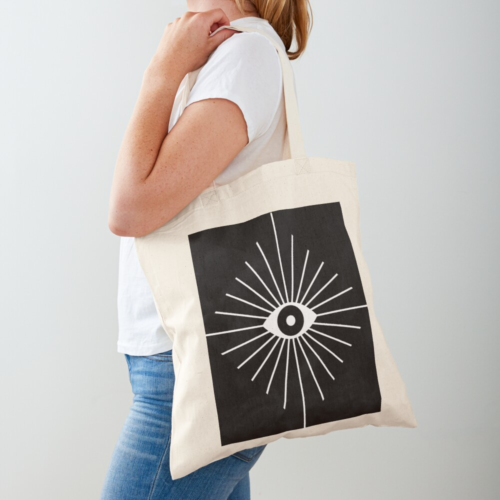 Electric Eyes - Black and White Tote Bag
