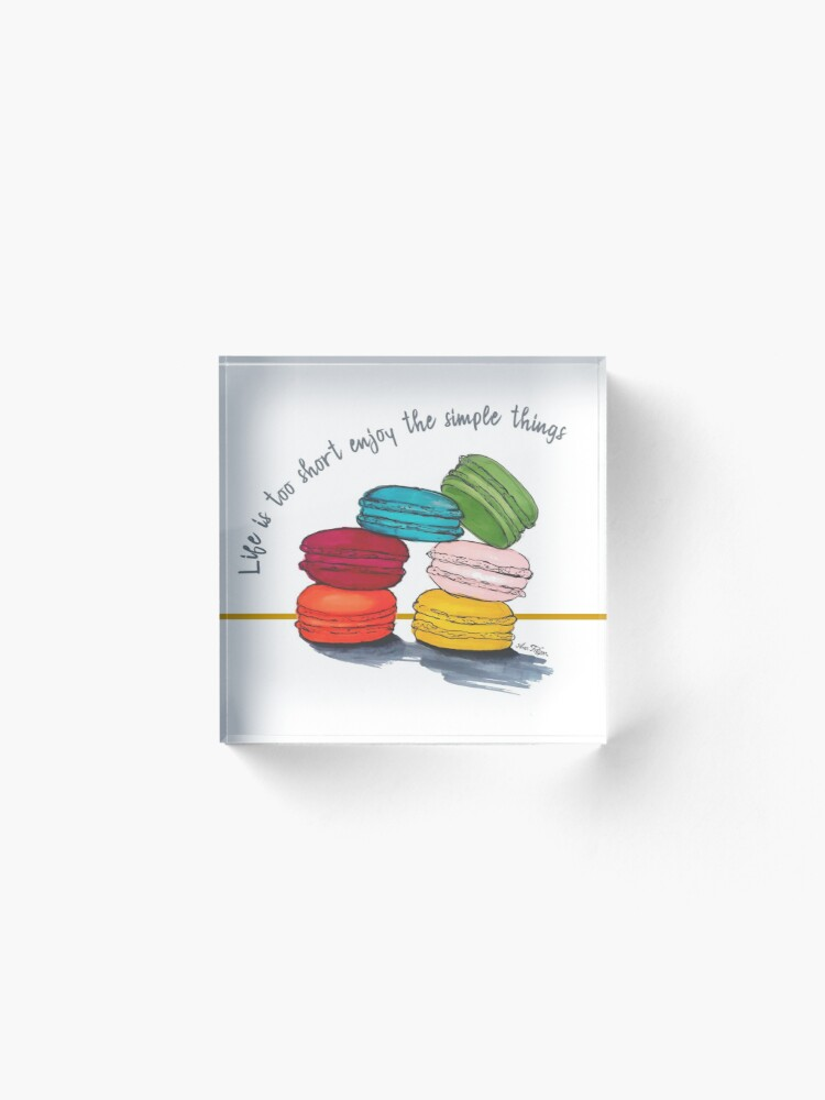 Alternate view of life with macarons Acrylic Block