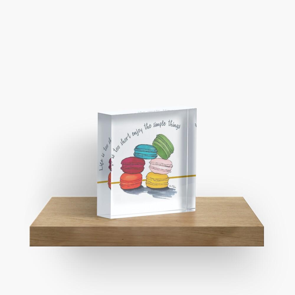 life with macarons Acrylic Block