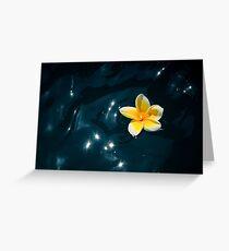 Plumeria Sparkle Greeting Card