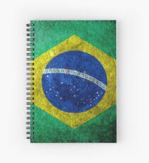 Brazil Grunge Spiral Notebook