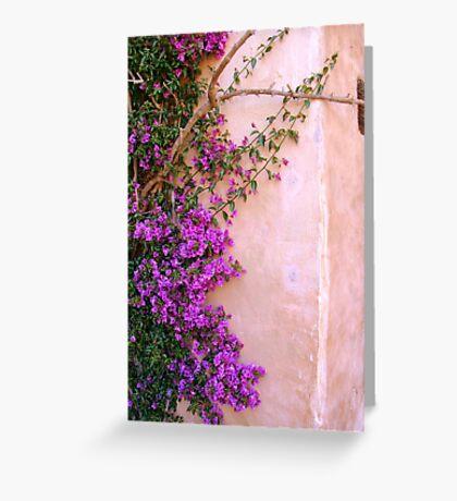 Climbing up the walls... Greeting Card