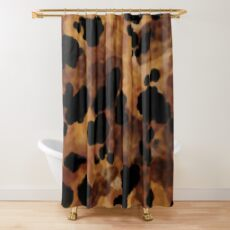Tortoise Shell Watercolor Shower Curtain