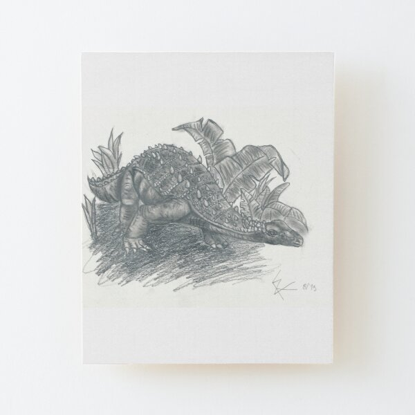 Dinosaur Wood Mounted Print