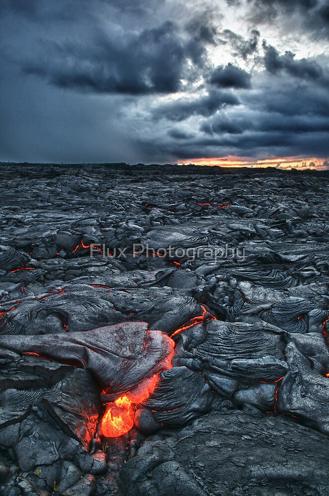 Kalapana Lava flow at sunrise HDR by Flux Photography