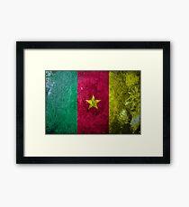 Cameroon Grunge Framed Print