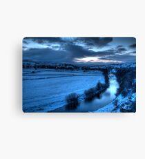 River Ure with Bainbridge  Canvas Print