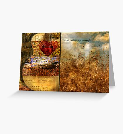 The Heart of Worship Greeting Card
