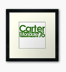 Jimmy Carter Mondale 1976 Framed Print