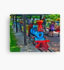 Park Train Canvas Print
