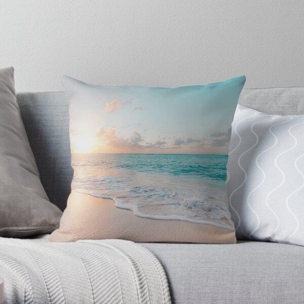 Tropical Clear Ocean  Throw Pillow