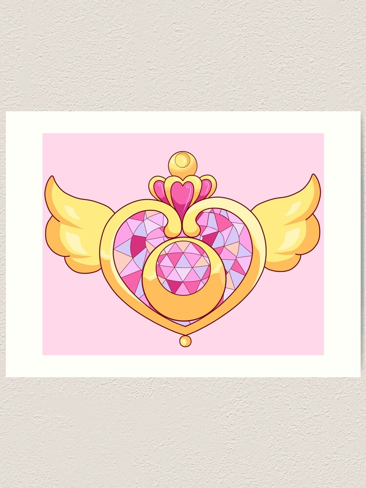 Sailor Moon Heart Brooch Art Print By Alightedsylph Redbubble All orders are custom made and most ship worldwide within 24 hours. redbubble